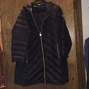 Long Michael Kors packable down coat